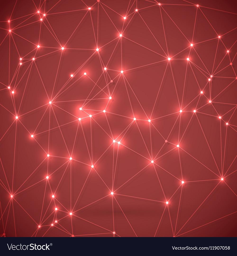 Wireframe Technology Background Chemistry Molecule