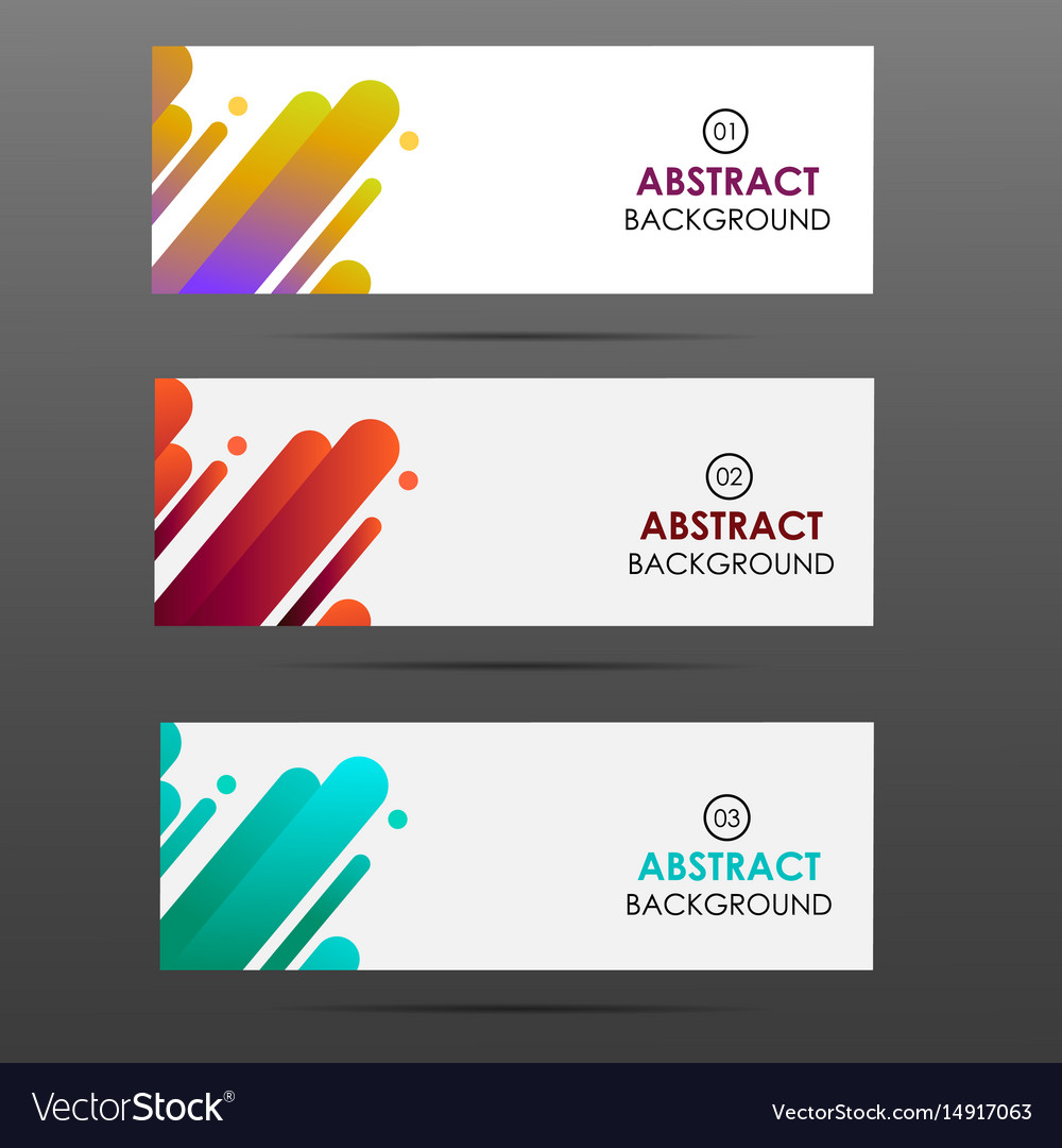 Banner with abstract colorful shapes