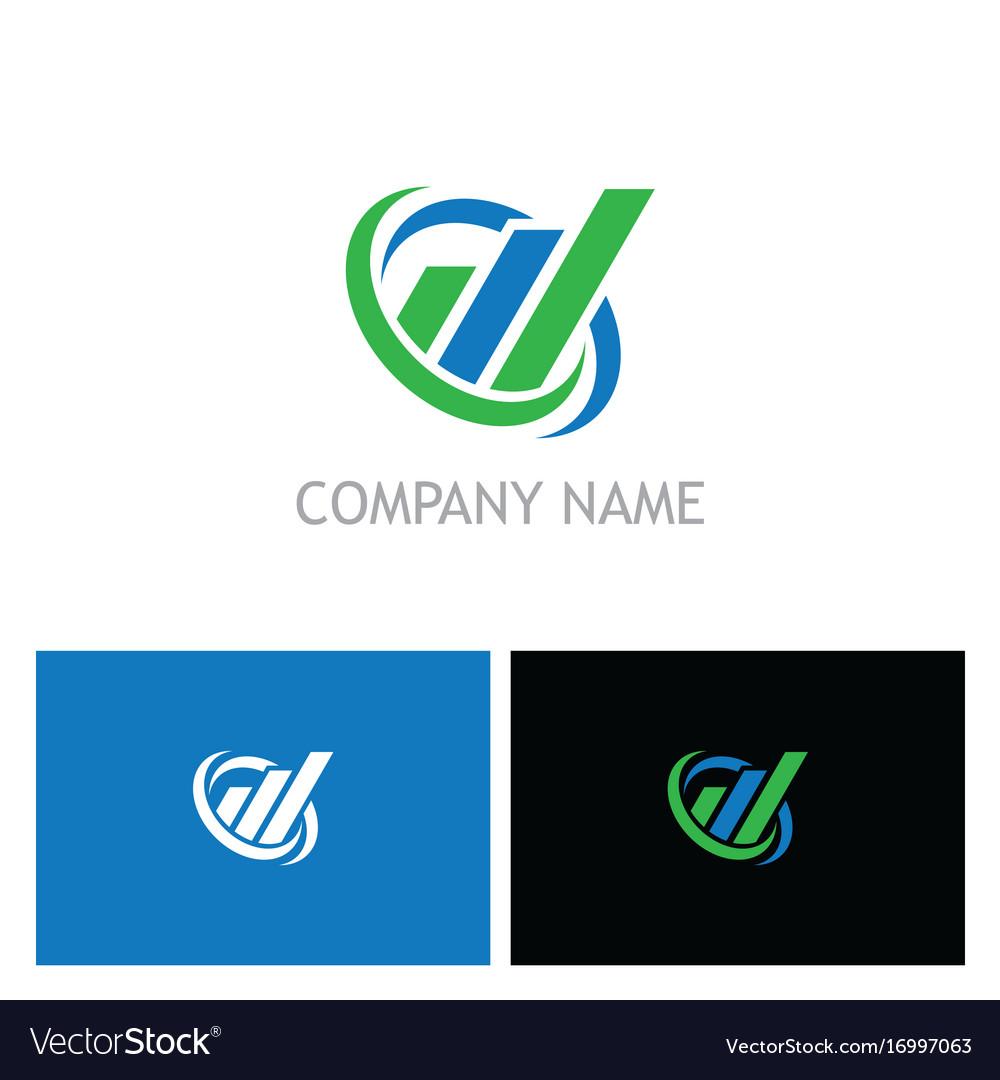 Business finance line progress company logo