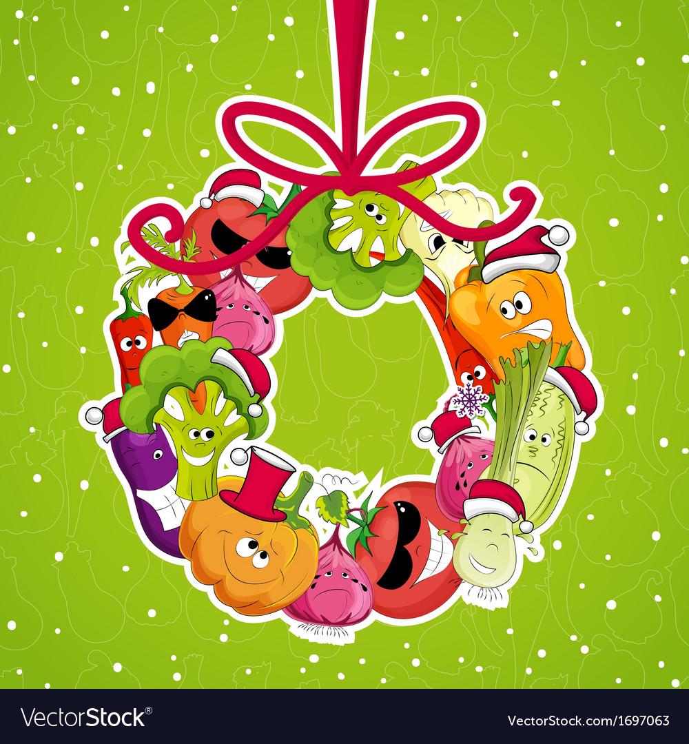 Go vegan card design Christmass
