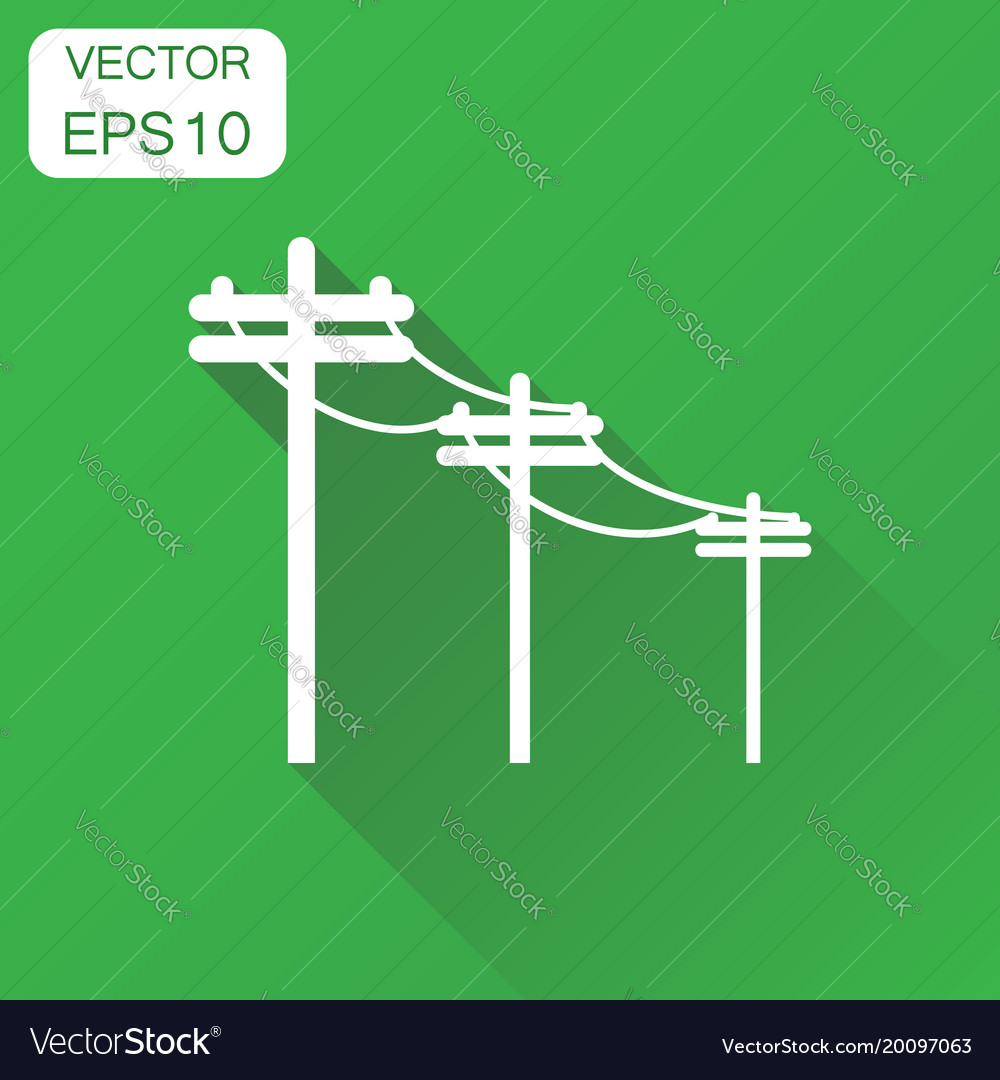High voltage power lines icon business concept