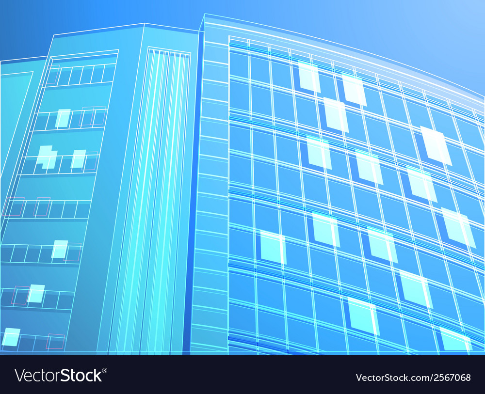 building wireframe royalty free vector image vectorstock
