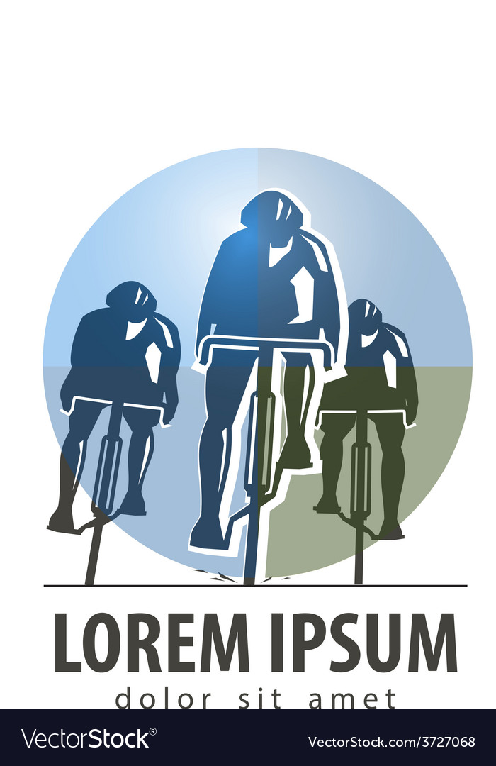 Cycling logo design template sports or