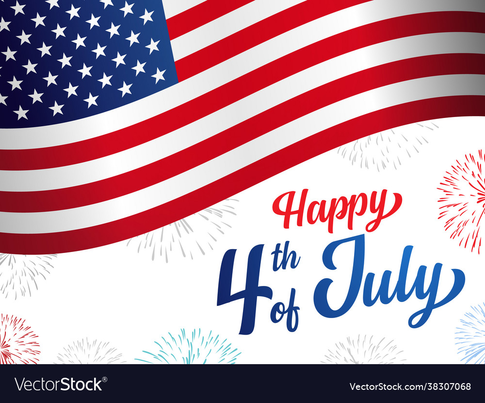 Happy 4th july usa independence day banner
