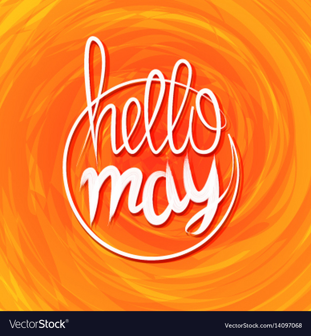Hello spring lettering grange yellow colored