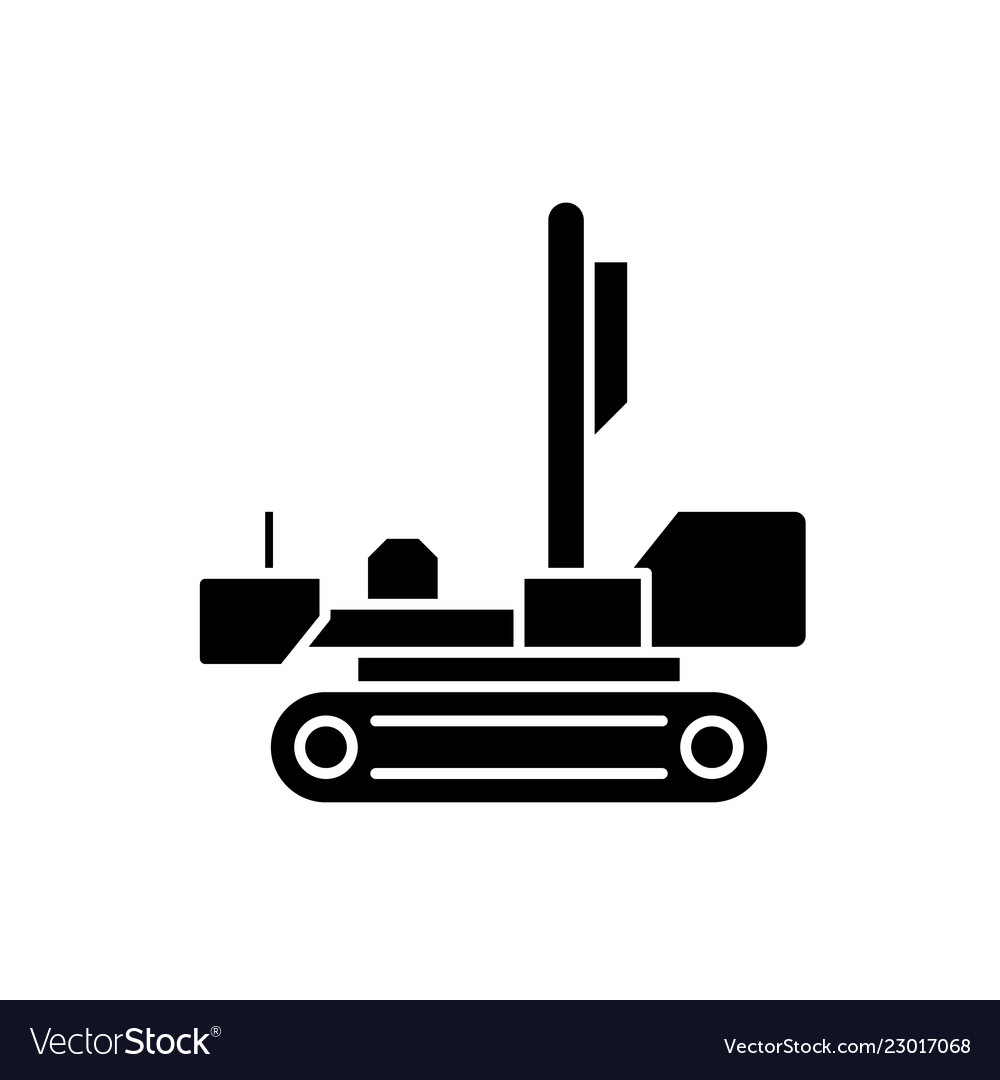 Men at work black icon sign on isolated