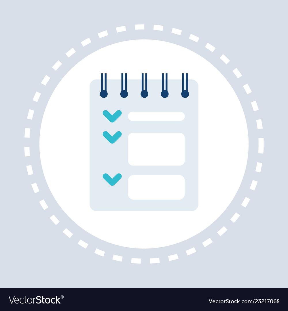 Notepad list green check mark points checklist
