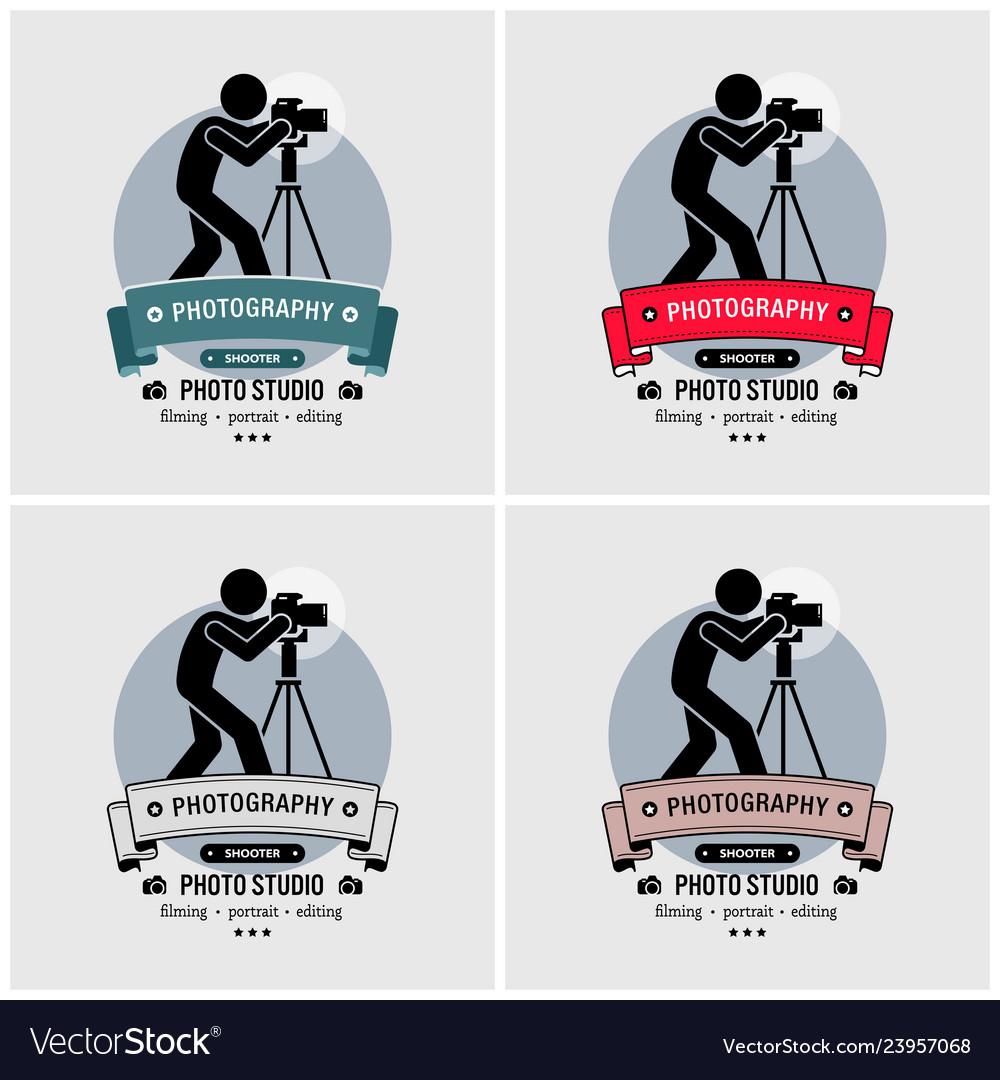 Photographer photography studio logo design
