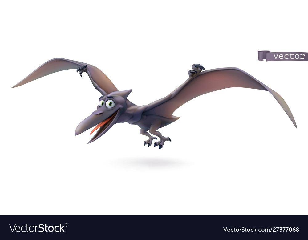 Pterodactyl pterosaur flying dinosaur cartoon