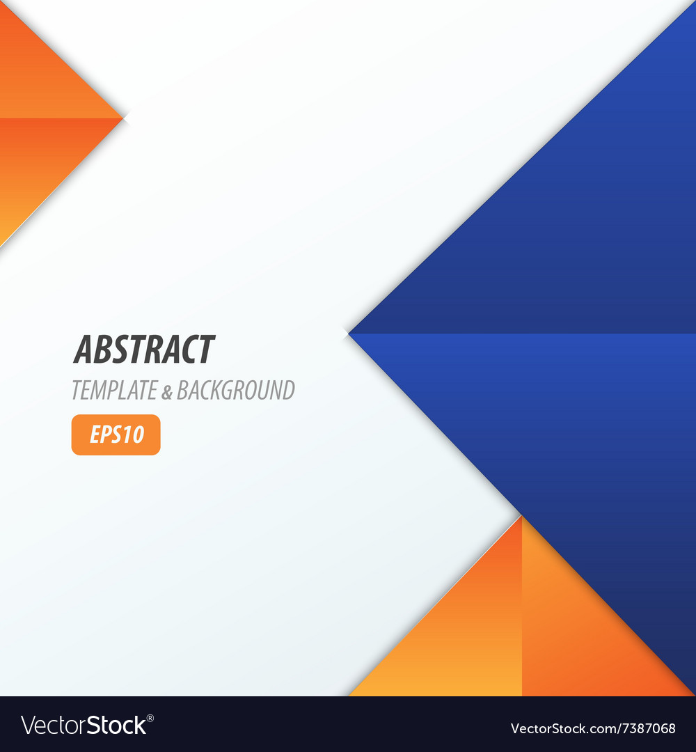 Pyramid Design Template 2 Color Blue Orange