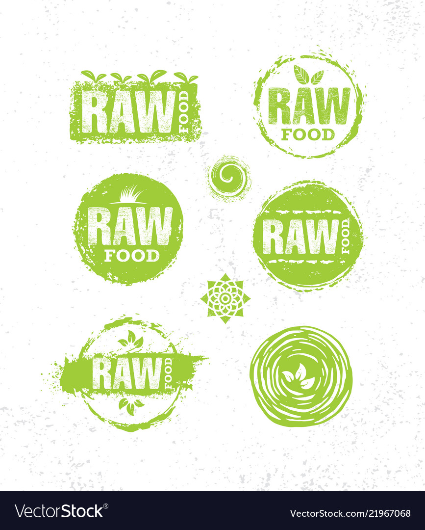 Raw diet wholesome healthy food creative sign