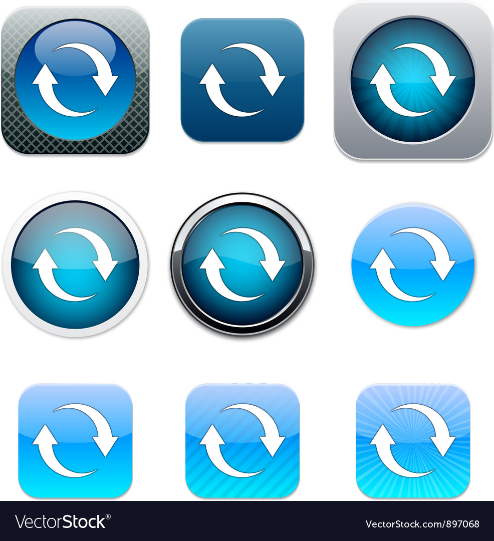 Refresh blue app icons