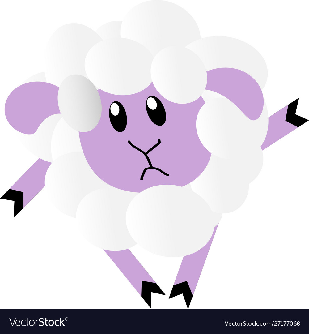 Sad lamb vector image