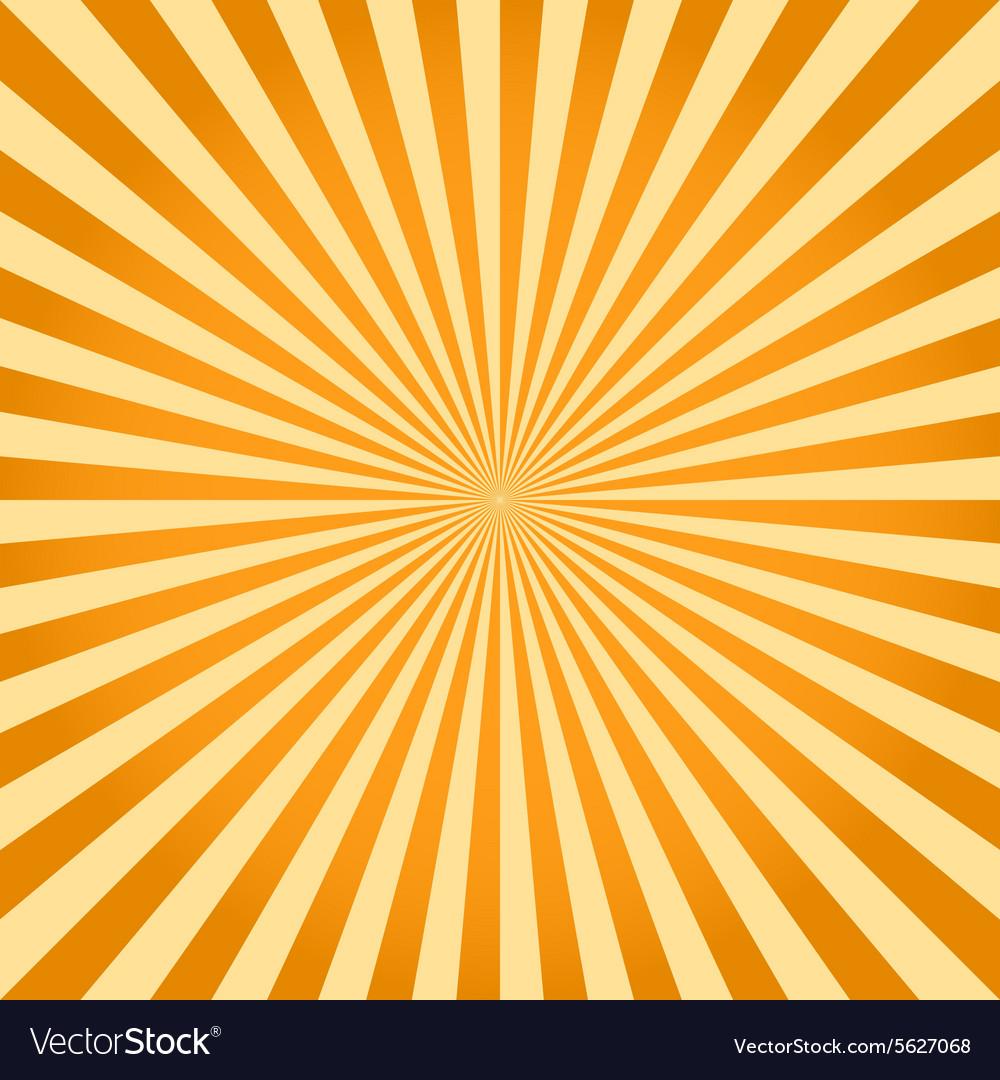 Sunburst ray retro background