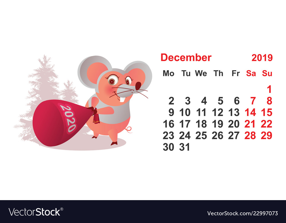 picture relating to Printable Pig Mask named 2019 yr december calendar template pig mask