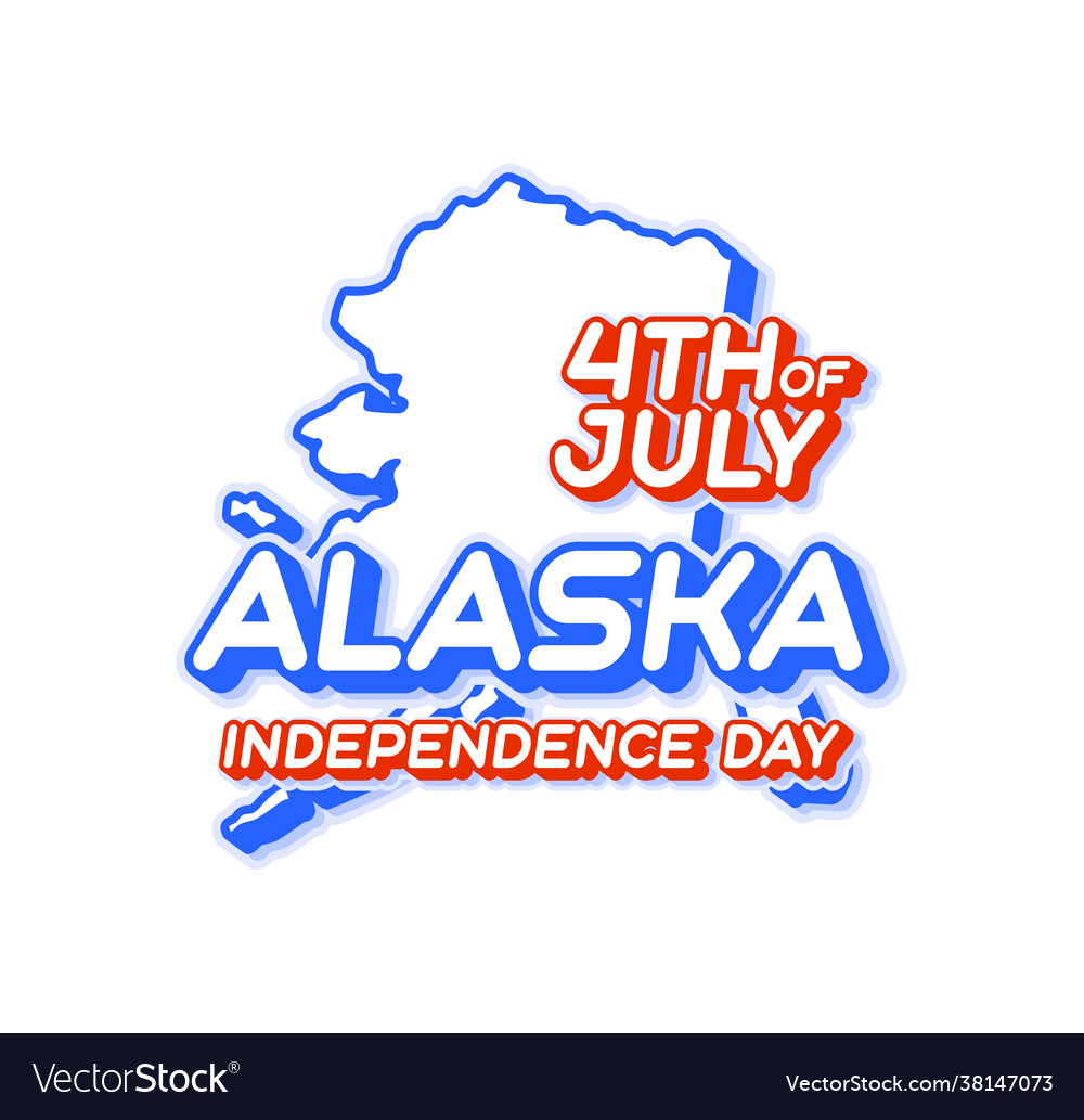 Alaska state 4th july independence day with
