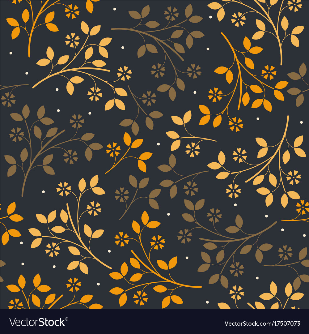 Autumn seamless pattern with colorful bouquets vector image