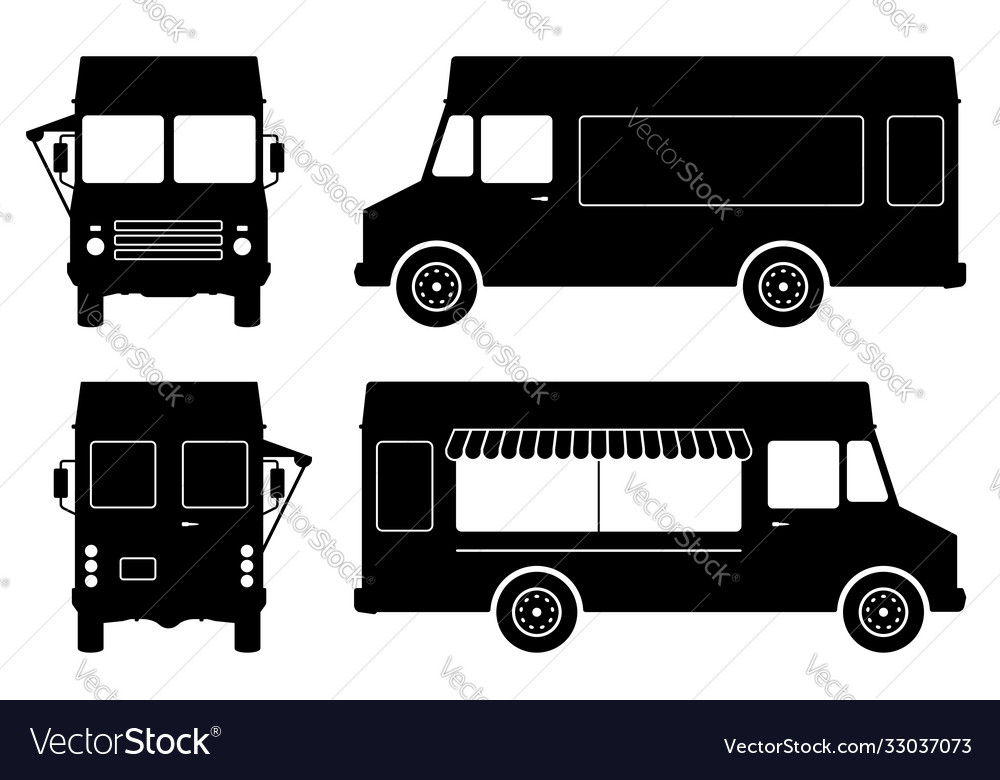 Food truck silhouette