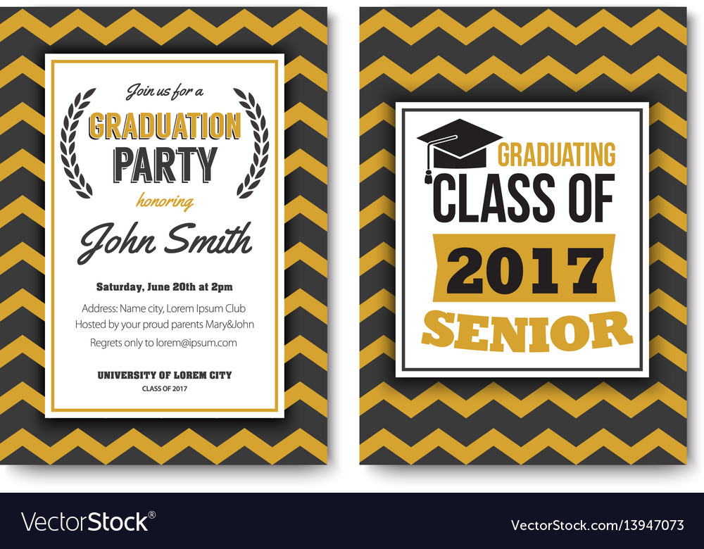 Graduation party template invitation royalty free vector graduation party template invitation vector image filmwisefo