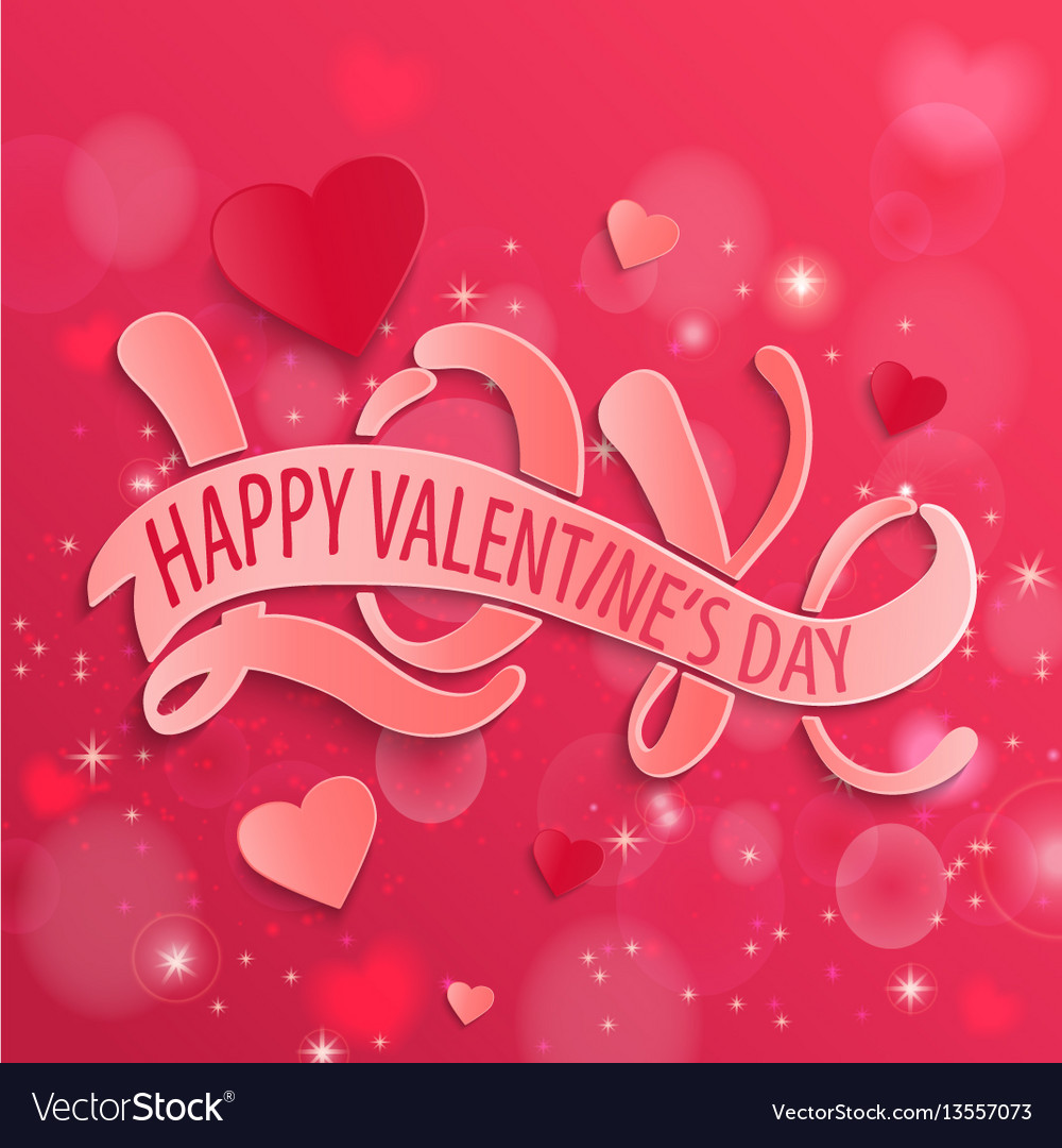 Happy valentines day design card