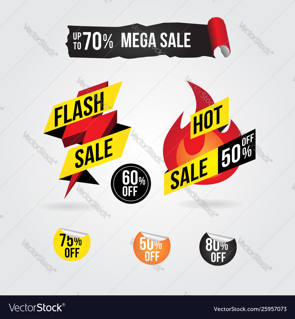 Hot flash sale banner tag design collection