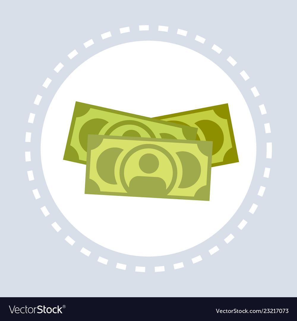 Money cash banknotes icon financial savings cash