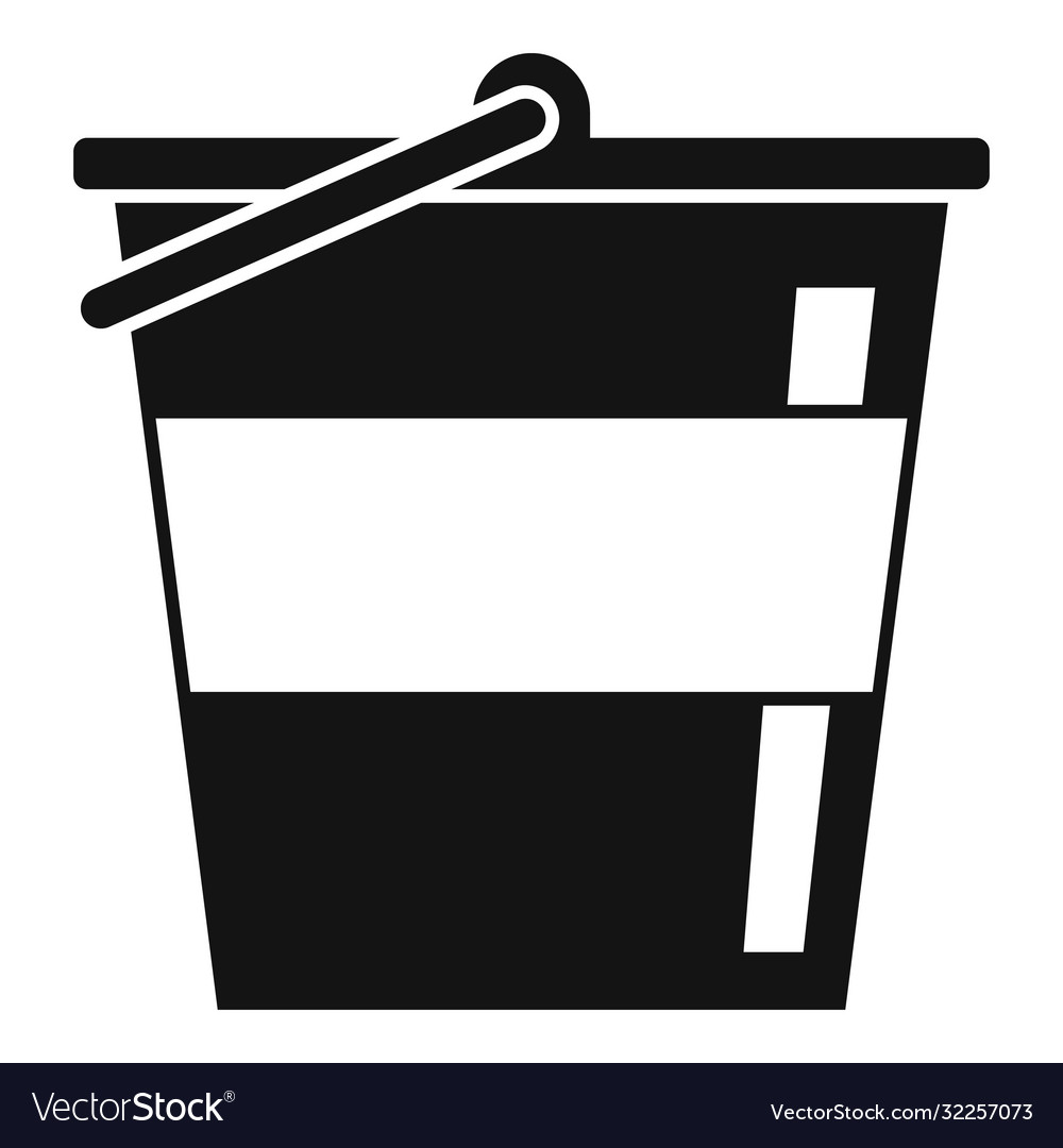Reconstruction metal bucket icon simple style