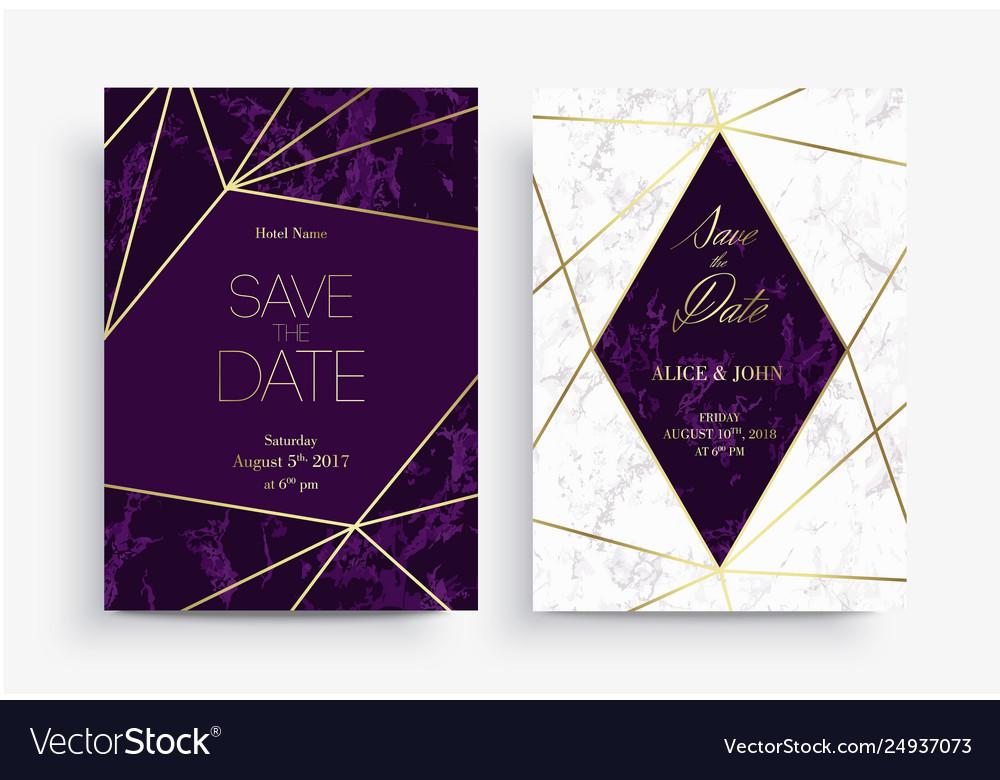 Two save date card template geometric design