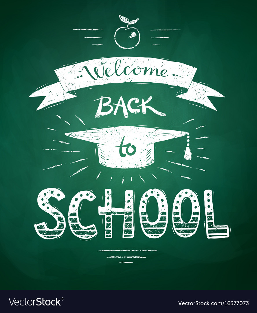 welcome back to school poster royalty free vector image