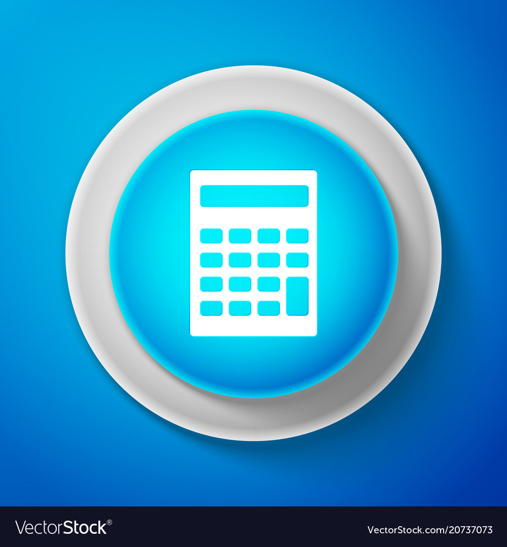 White calculator icon accounting symbol