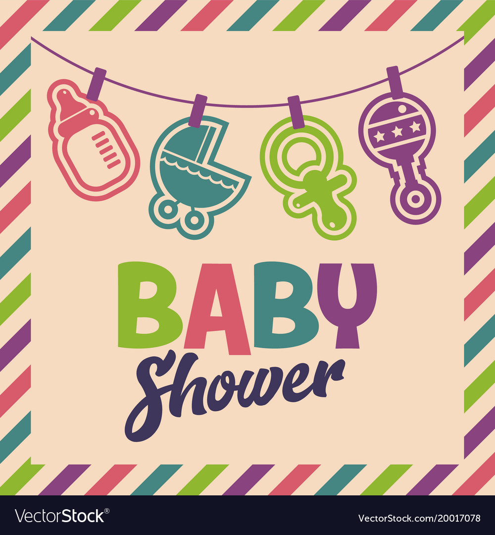 Baby shower invite greeting card