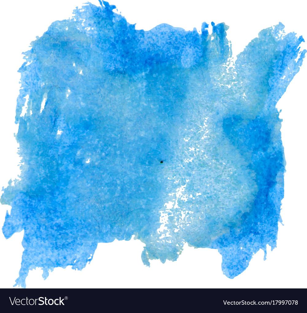 blot template blue watercolor royalty free vector image