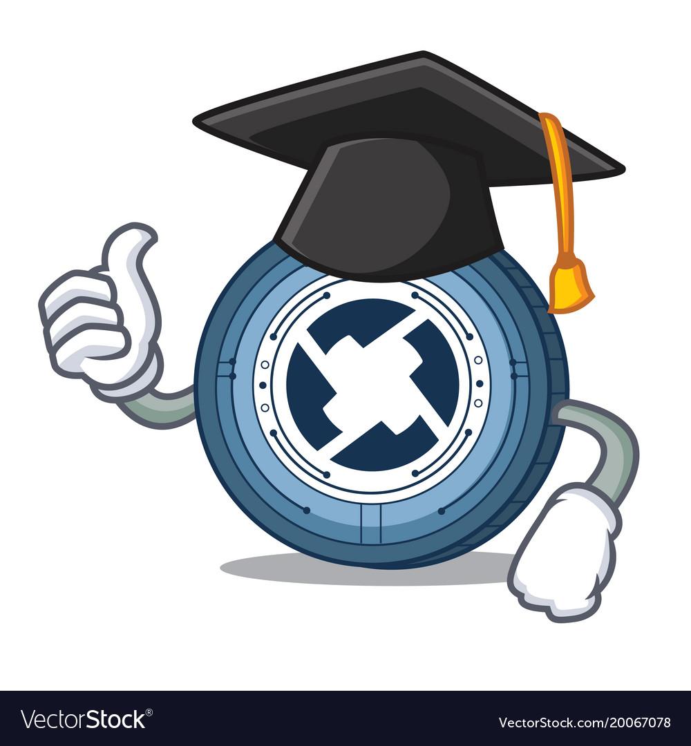 Graduation 0x coin character cartoon