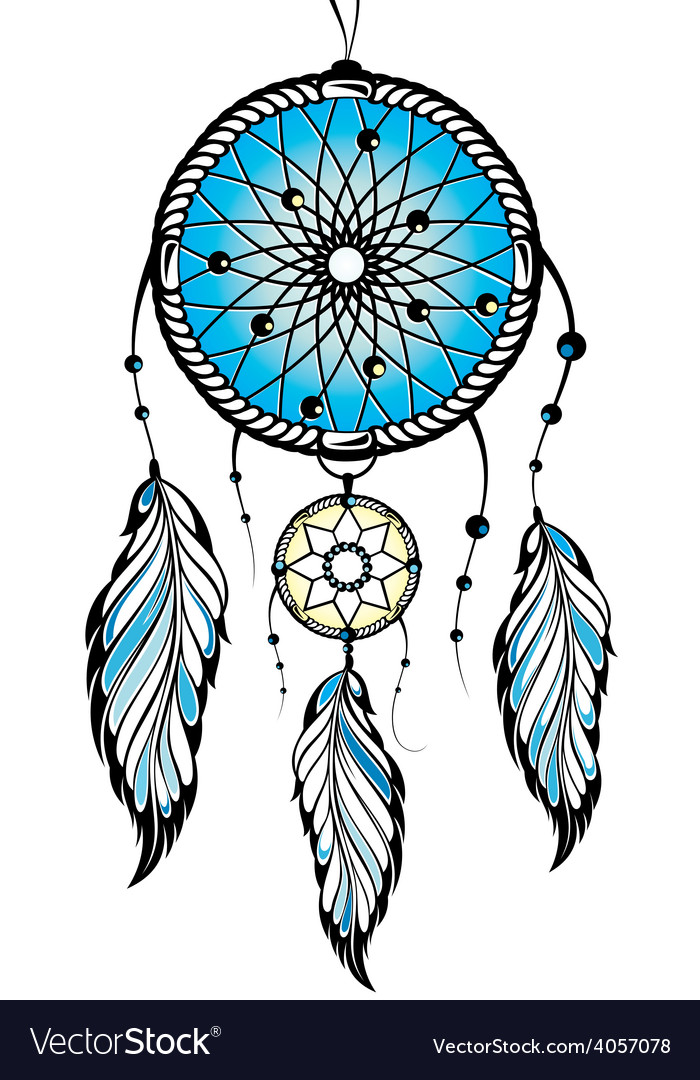 indian dream catcher royalty free vector image rh vectorstock com dreamcatcher vectors dream catcher vector free