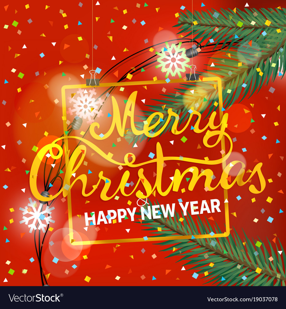 Merry christmas and happy new year party