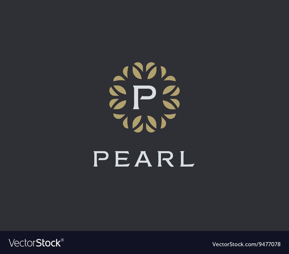 Premium monogram letter P initials logo Universal