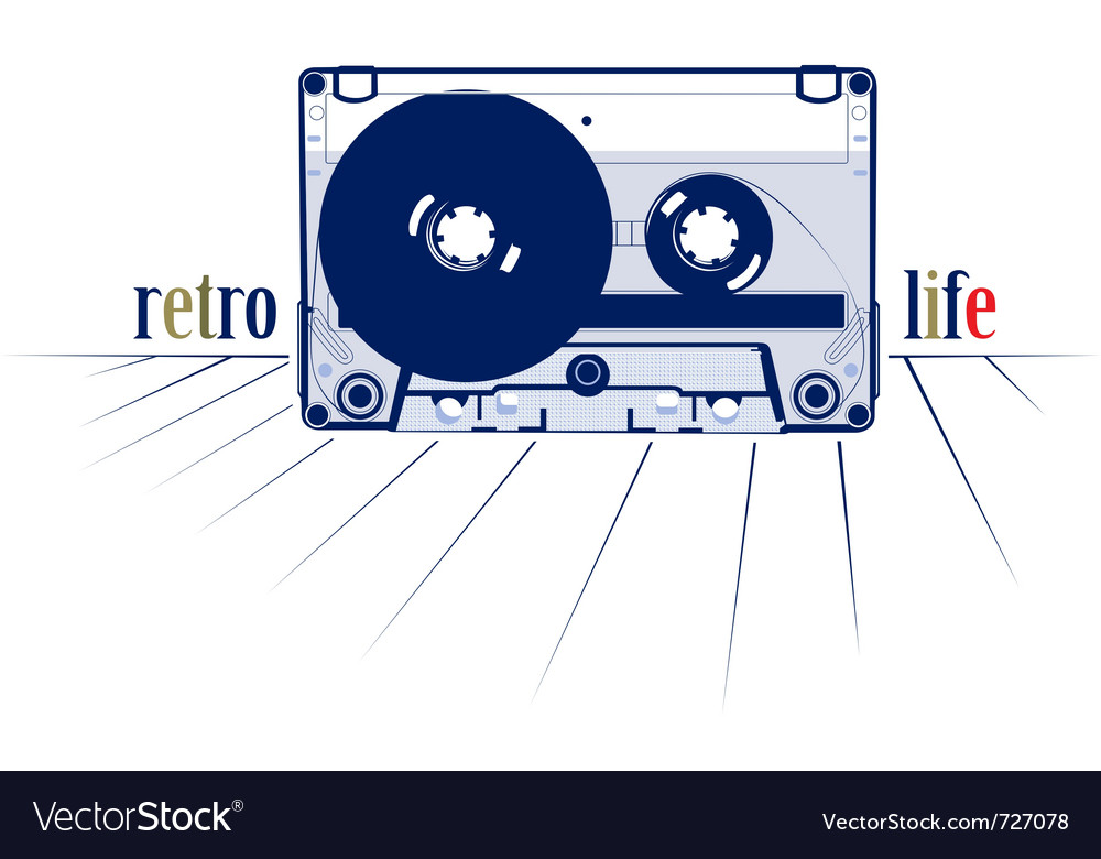Retro style audio cassette