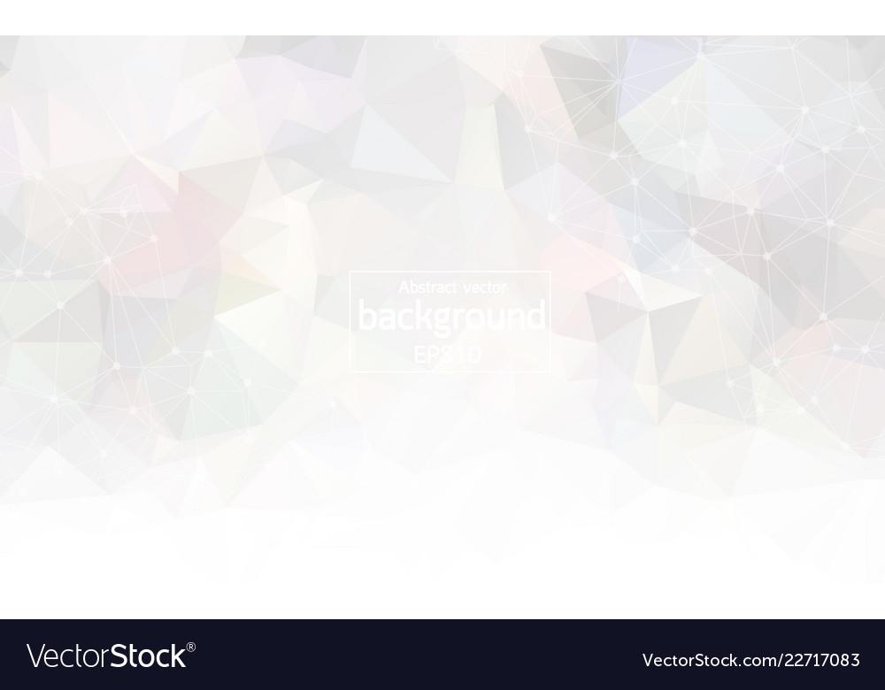 Abstract white light geometric polygonal
