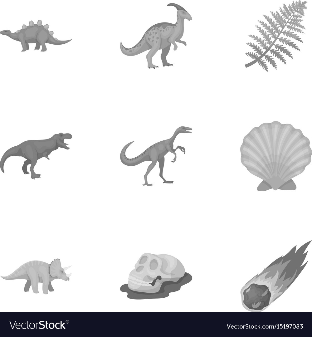 Image of: Pnictosaurs Vectorstock Ancient Extinct Animals And Their Tracks And Vector Image