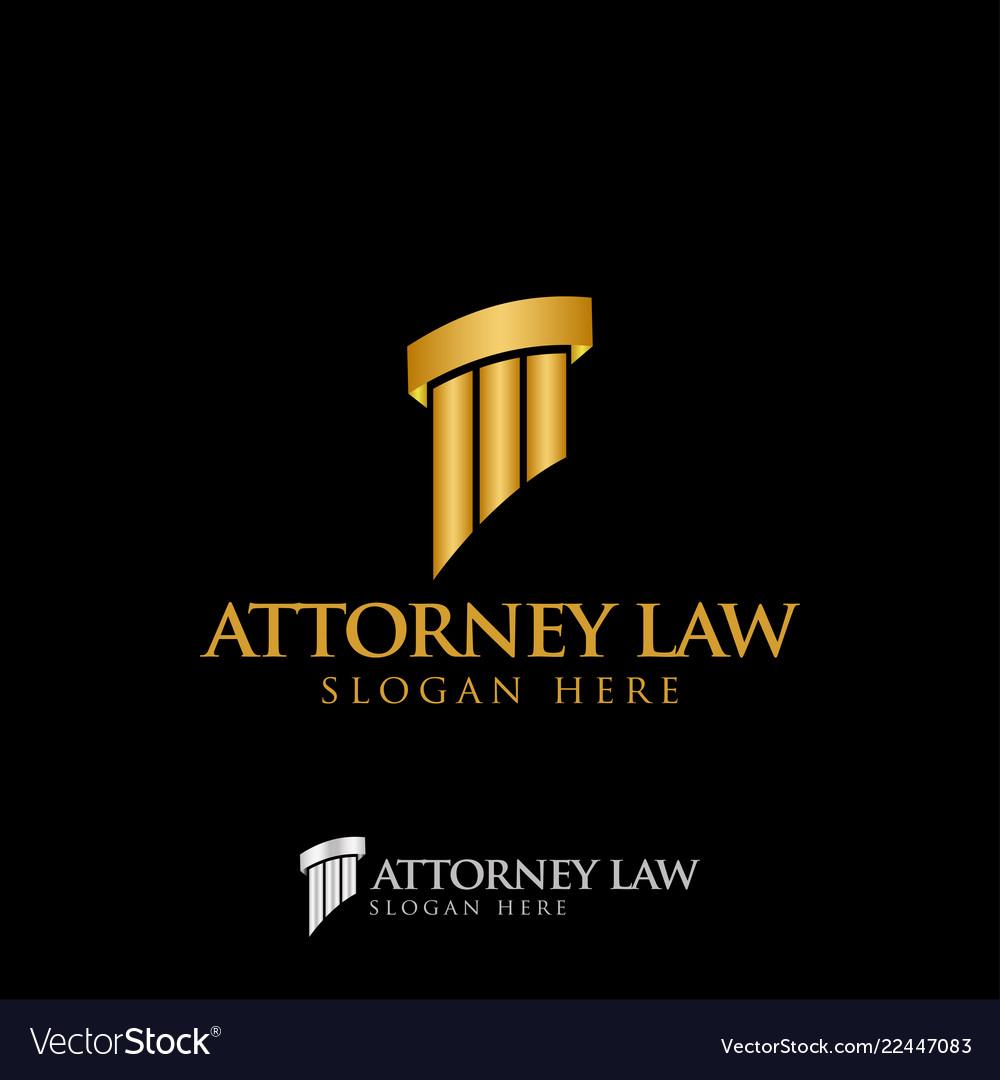 Attorney law pillar logo icon design template
