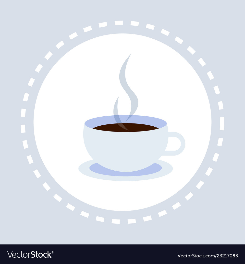 Hot drink cup coffee break concept flat isolated