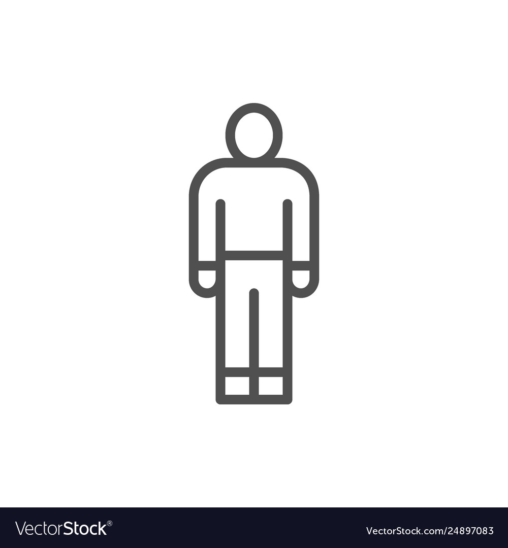 Man person human employee worker line icon