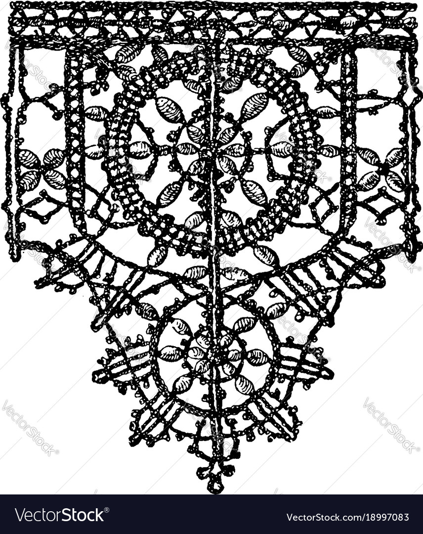 Point noue lace border is a 15th century design