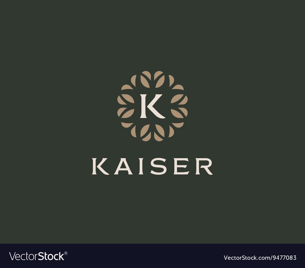 Premium monogram letter K initials logo Universal vector image