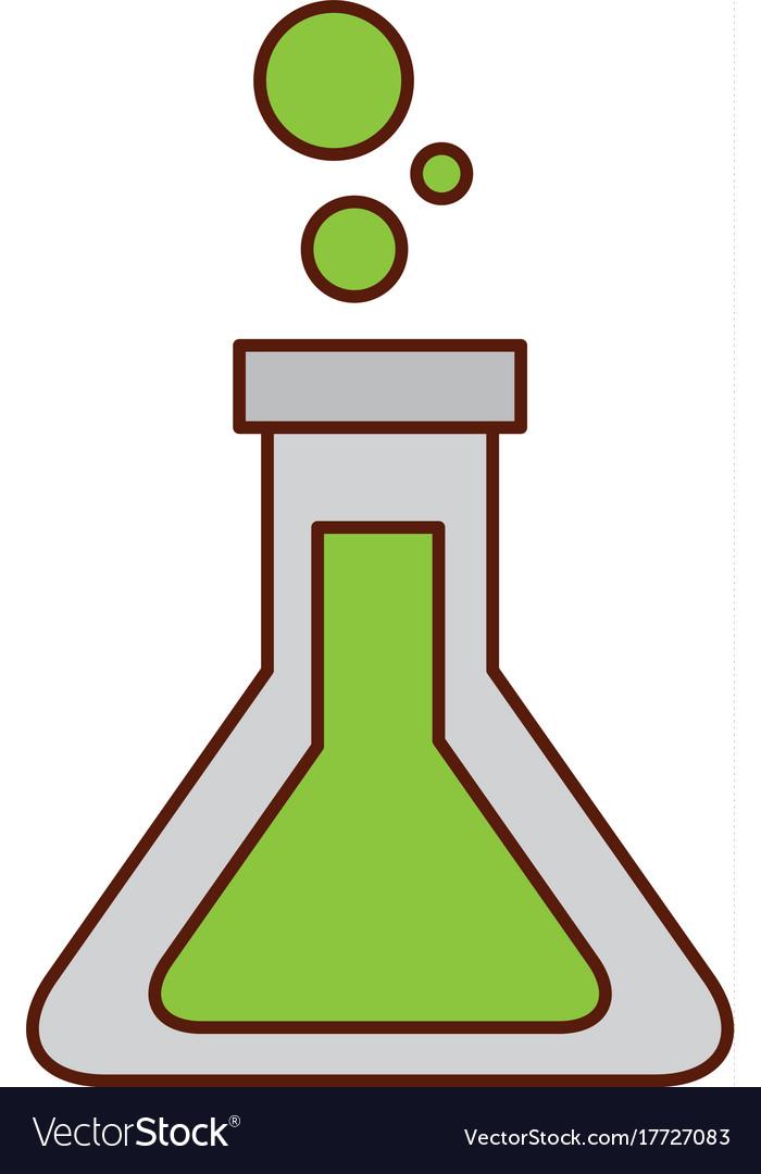 School test tube laboratory chemistry equipment vector image