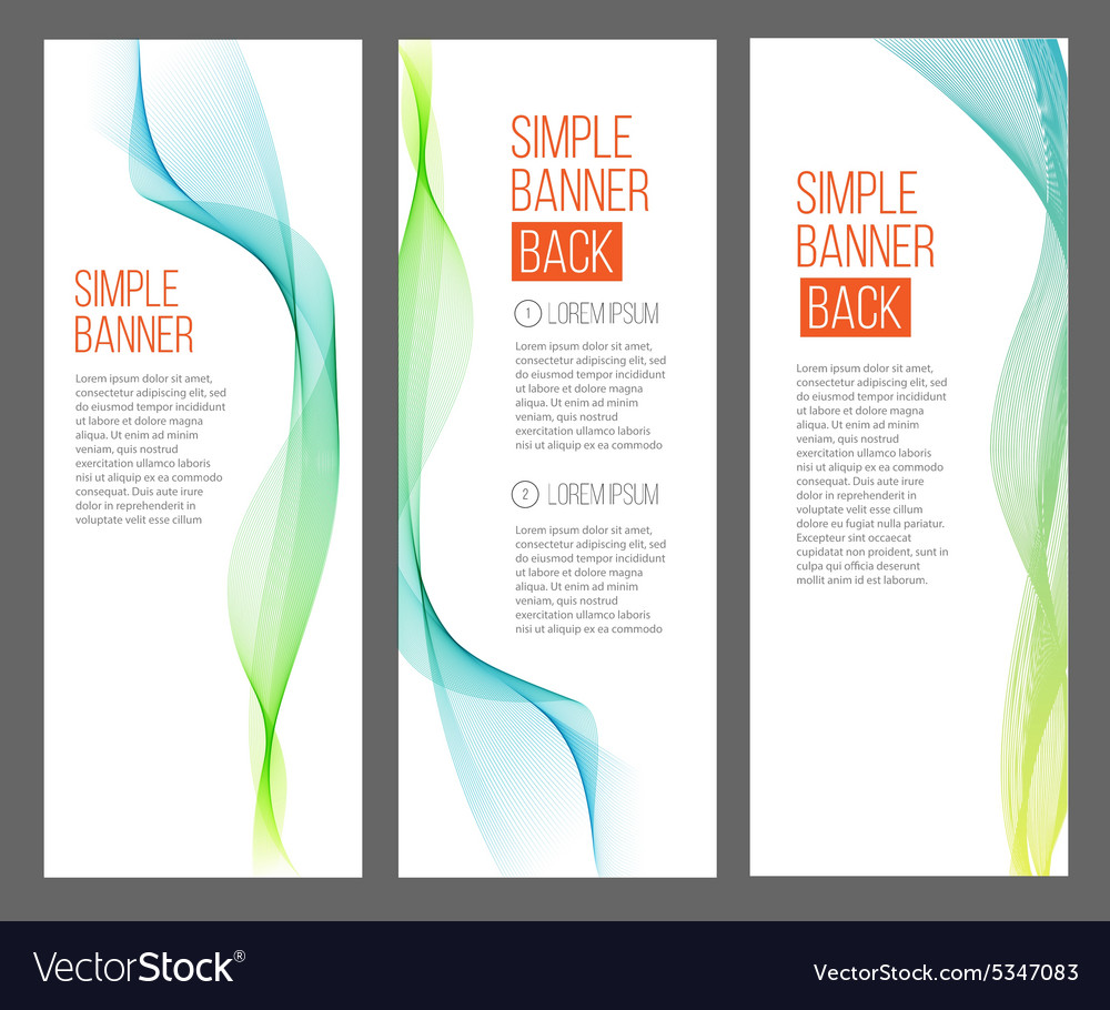 Three absrtact banners with gradiented webs vector image