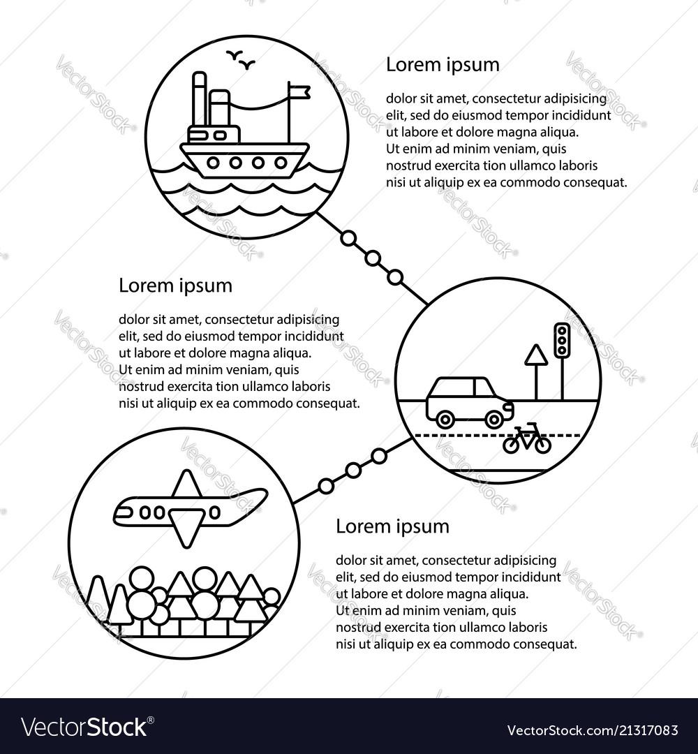 Transportation infographics elements