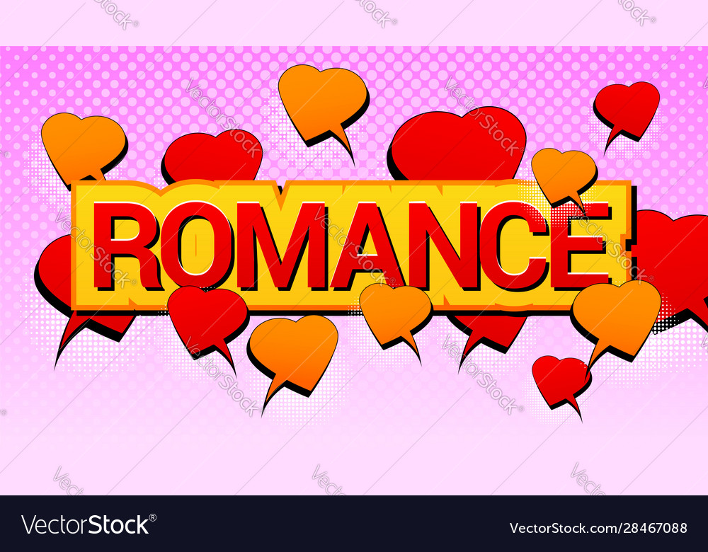 Comic amorous romantic concept
