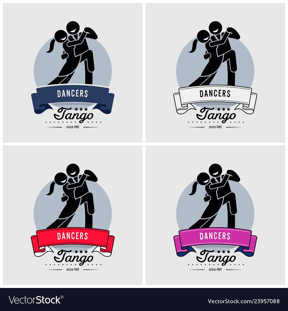 Dancing club or class logo design artwork