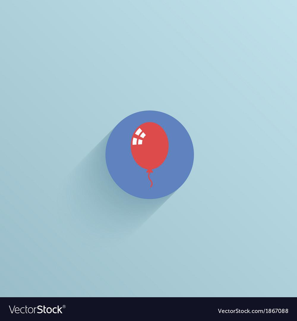 Flat circle icon on blue background Eps10